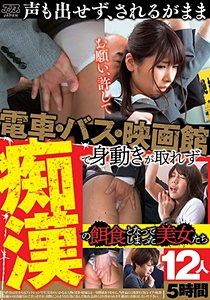 DVAJ-425 電車・バス・映画館で身動きが取れず痴漢の餌食となってしまった美女たち